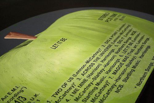 Beatles record headboard2