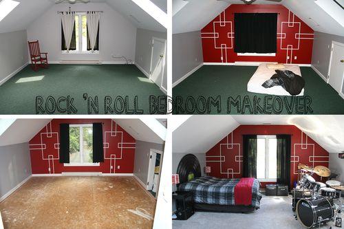 Rock n Roll Bedroom Makeover